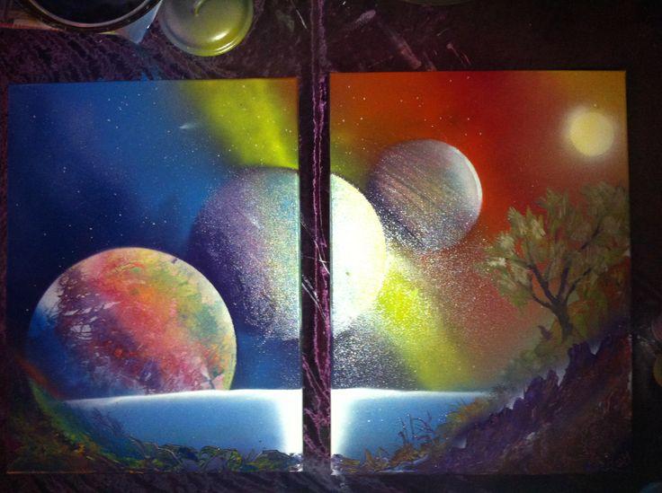 """Rainbow Planet "" on Canvas ☮"