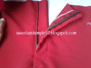 SWEET AND SIMPLE: Cara pasang zip seluar baju melayu