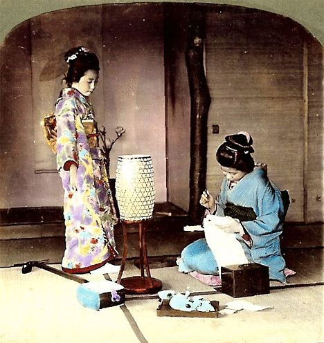 These animated images are taken from original stereoscopic photographs by T. Enami, and were animated from images posted by Okinawa Soba. The images date from about 1895 to about 1910.