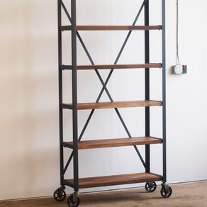 Walnut Engineers Industrial Bookcase by Marcus Comfort