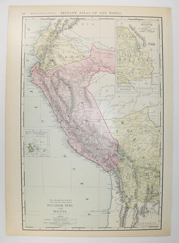 427 best Antique Mexico, South America, Central America and West - best of world map with ecuador