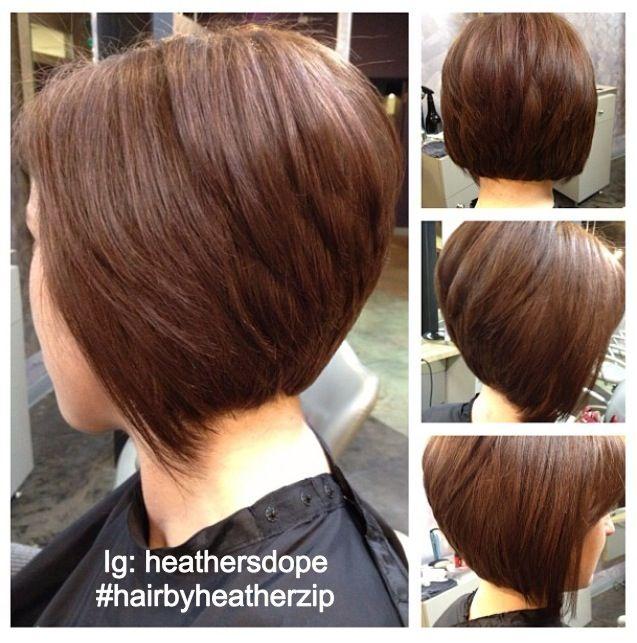 Stacked Angle Bob Haircut and Color. Core salon. Randolph, nj.  (Stylist: heather)
