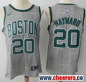 Nike Boston Celtics #20 Gordon Hayward Gray NBA Swingman City Edition Jersey