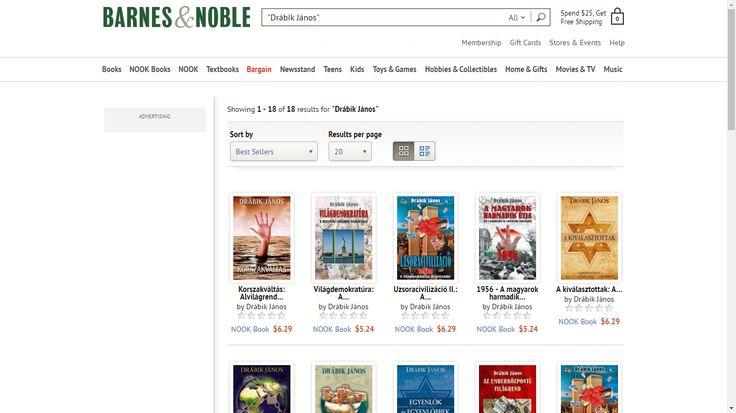 Drábik János Barnes and Noble e-könyvei magyarul - http://www.barnesandnoble.com/s/%22Dr%C3%A1bik%20J%C3%A1nos%22?Ntk=P_key_Contributor_List&Ns=P_Sales_Rank&Ntx=mode+matchall