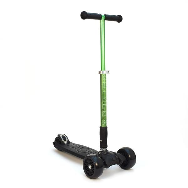 """3-Style Scooters RGS-3 Kick Scooter - Perspective View. Stylish metallic colouring with etched 3-Style logo, large 2"""" wide-ride black wheels and robust easy-fold handlebars. Suitable for kids aged 3+ and heights 100cm+"""
