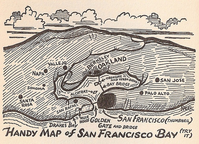 Reg Manning's Handy Map of San Francisco Bay