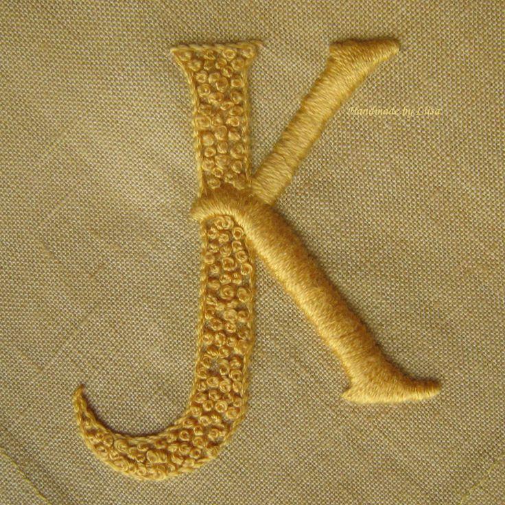 Embroidered linen napkins.