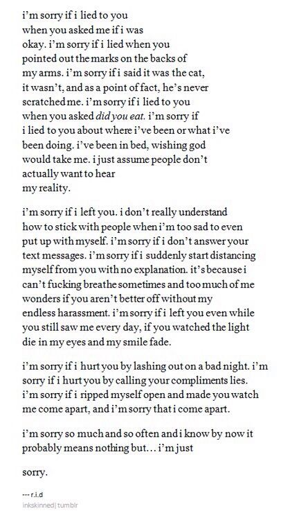 Sorry I'm just suicidal.....