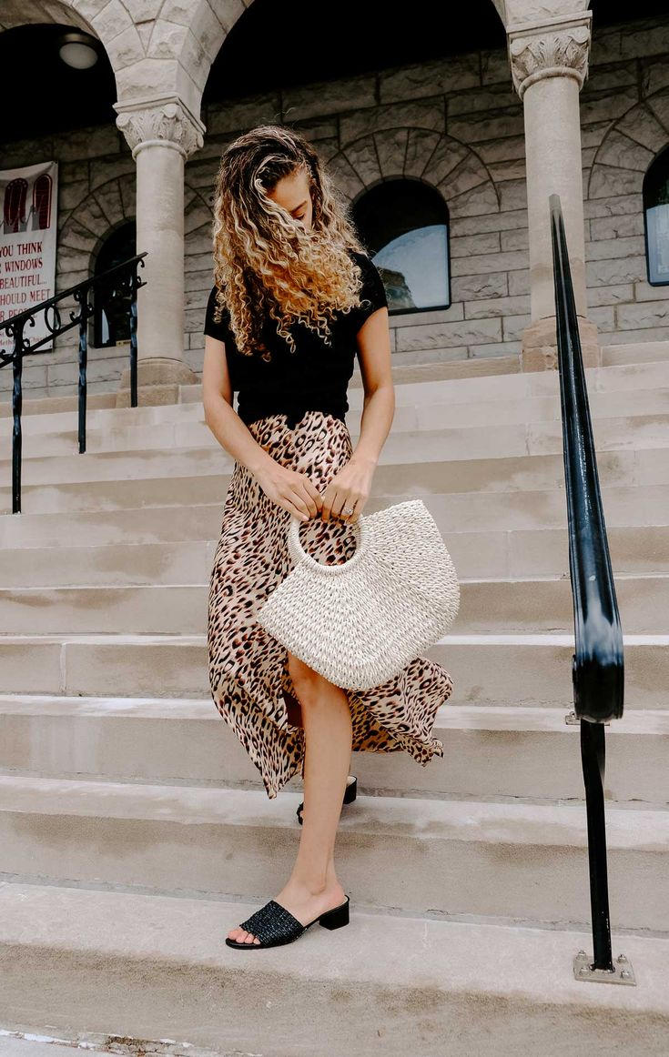 If you're looking for all the French fashion inspo, this leopard print slip dress would be perfect for your parisian chic spring and summer outfits!