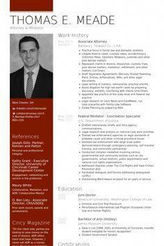 Associate Attorney Resume Example Resumewritingstudent Visual Samples