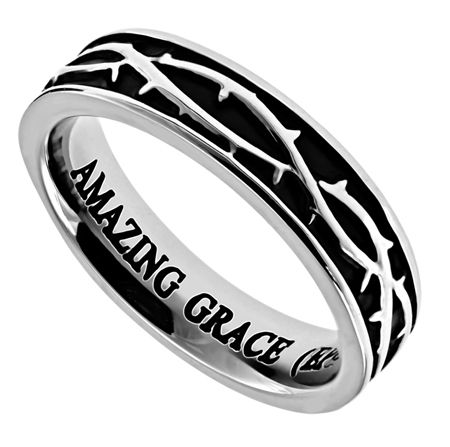 'Amazing Grace' - Women's Crown of Thorns Ring on SonGear.com - Christian Shirts, Jewelry
