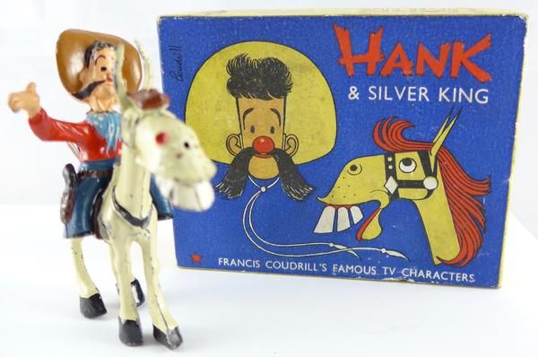 rare boxed Sacul Cowboy Hank on Silver King