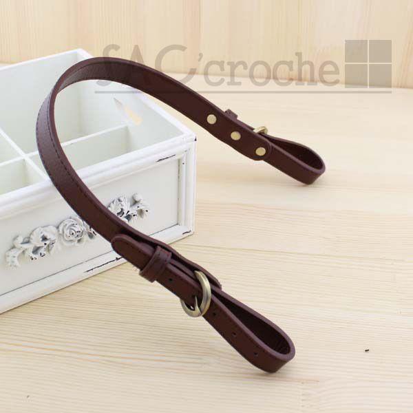 bc9dc360e5e0d 1 pairex Sangle Anse de sac réglable largeur 20mm marron Foncé en cuir  simili   Attaches par saccroche   bouton, rivet, mousqueton (accessoires sac)  ...
