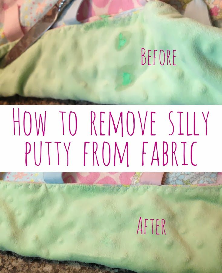 How To Remove Silly Putty From Fabric Blankets Sheets