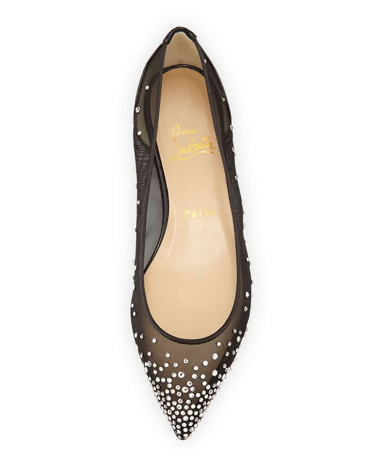 worth the splurge on these Christian Louboutin Body Strass Pointed-Toe  Ballerina Flats
