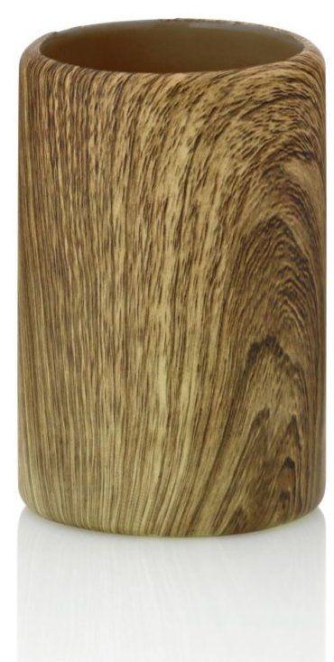 Ač to není vůbec poznat, tento pohár je vyrobený z keramiky. Přírodní dekor mu dodává hřejivý tón dřeva, takže pravidelná zubní hygiena se tak stane oblíbenější díky tomuto poháru z kolekce Kambium.