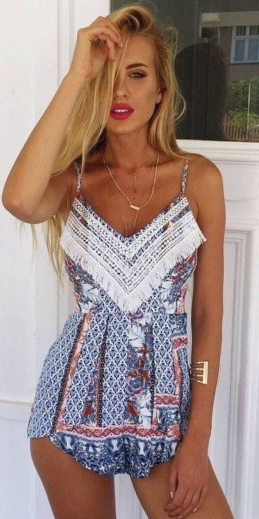 #muraboutique #label #outfitideas | Cami Playsuit