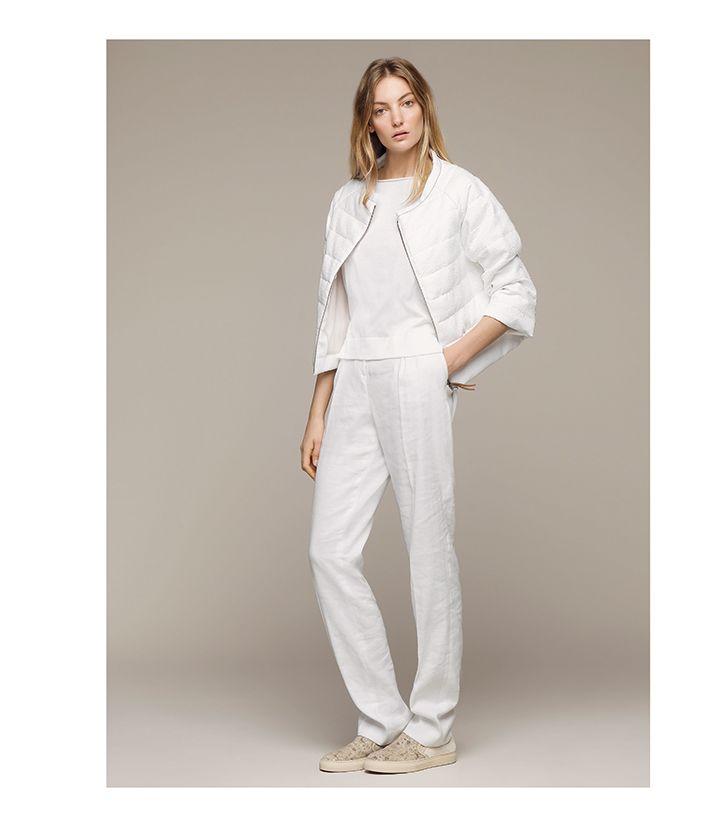 Your classic total white #FabianaFilippi #SS15