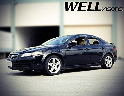 Amazon.com: WellVisors Premium Series Side Rain Guard Window Visors Deflectors For 04-08 Acura TL 4Dr Sedan 2004 2005 2006 2007 2008 04 05 06 07 08: Automotive