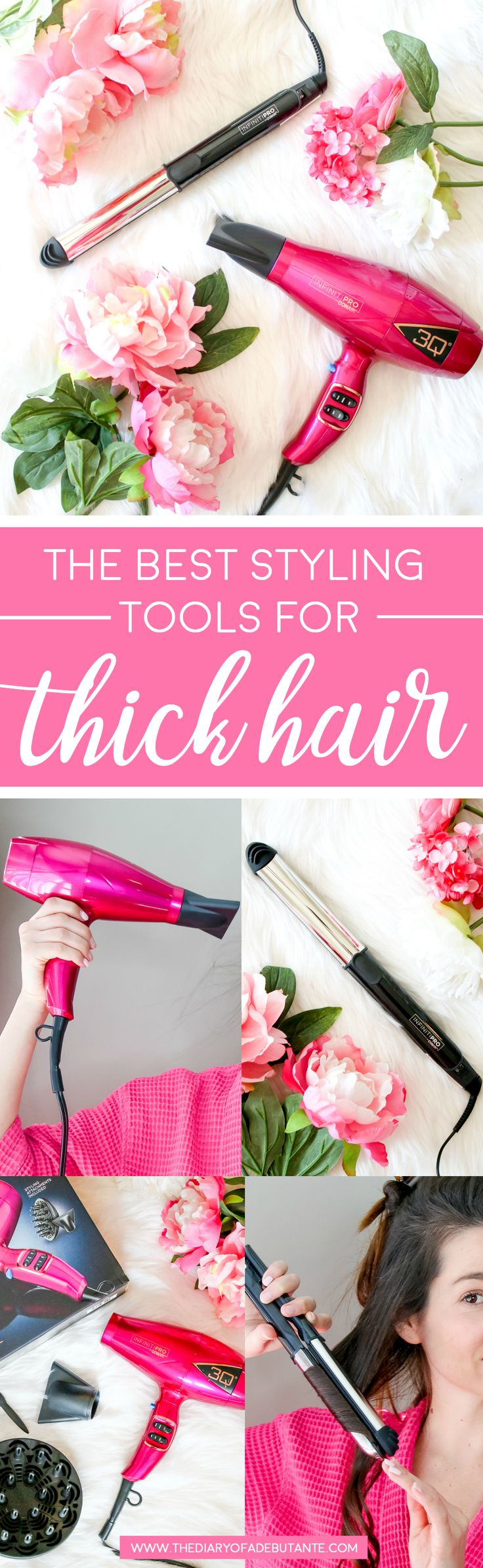 Conair 3Q blow dryer and Conair 2-in-1 styler review | How to use the InfinitiPRO by Conair 2-in-1 Styler | How to use the InfinitiPRO by Conair 3Q Compact Styler | The best blow dryer for thick coarse hair and best 2-in-1 styler from Conair | Conair's best hair styling tools for women | The Countdown to Styling: 2 Conair Styling tools Every Girl Needs to Try by blogger and retired beauty queen Stephanie Ziajka from Diary of a Debutante #3QDryer #Conair2in1Styler #sponsored