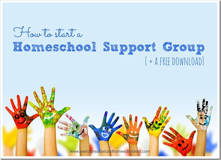 Tips for starting a homeschool support group plus a free download of activity ideas and planning tips.