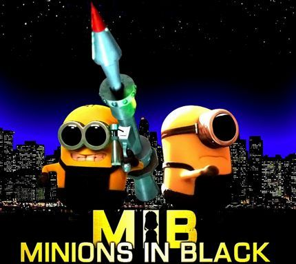 Minions In Black....this is so cute lol!