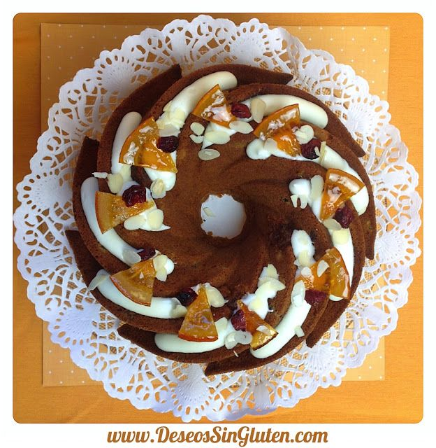 Deseos Sin Gluten: BUNDT CAKE DE NARANJAS CONFITADAS Y ARÁNDANOS SIN ...