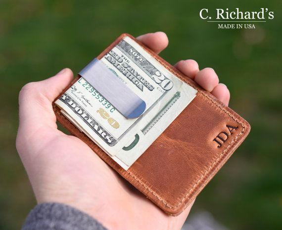 Carpeta Clip del dinero carpeta del Clip del por CRichardsLeather