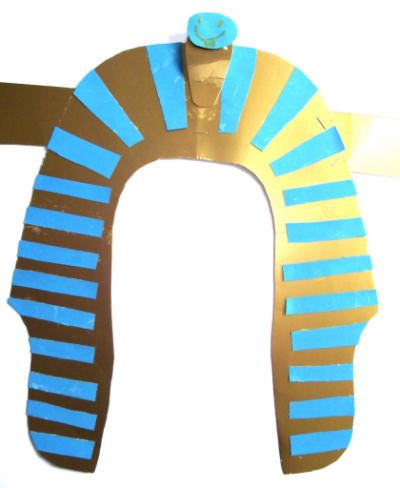 make a Egyptian headdress, week 2 or 3