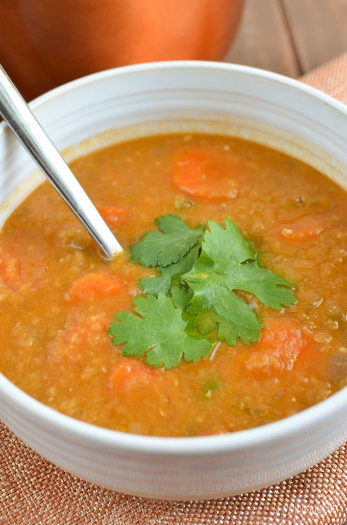 Slimming Eats Spicy Carrot and Lentil Soup - gluten free, dairy free, vegetarian, Slimming World and Weight Watchers friendly
