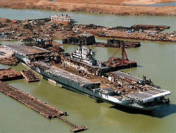 uss coral sea being scrapped