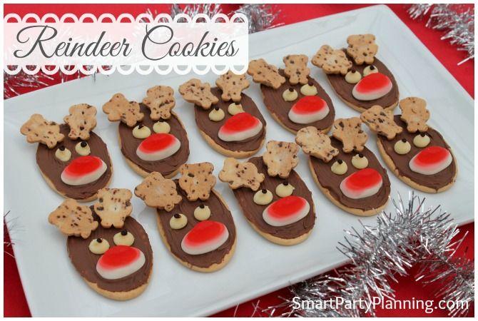 Tasty Christmas reindeer cookies #ReindeerCookies