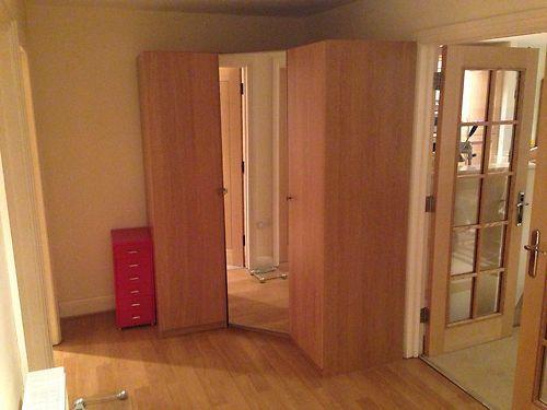 details about brand new ikea pax oak effect corner. Black Bedroom Furniture Sets. Home Design Ideas