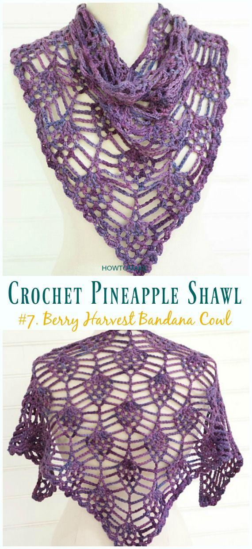 Crochet Pineapple Shawl Free Patterns Crochet And Knitting