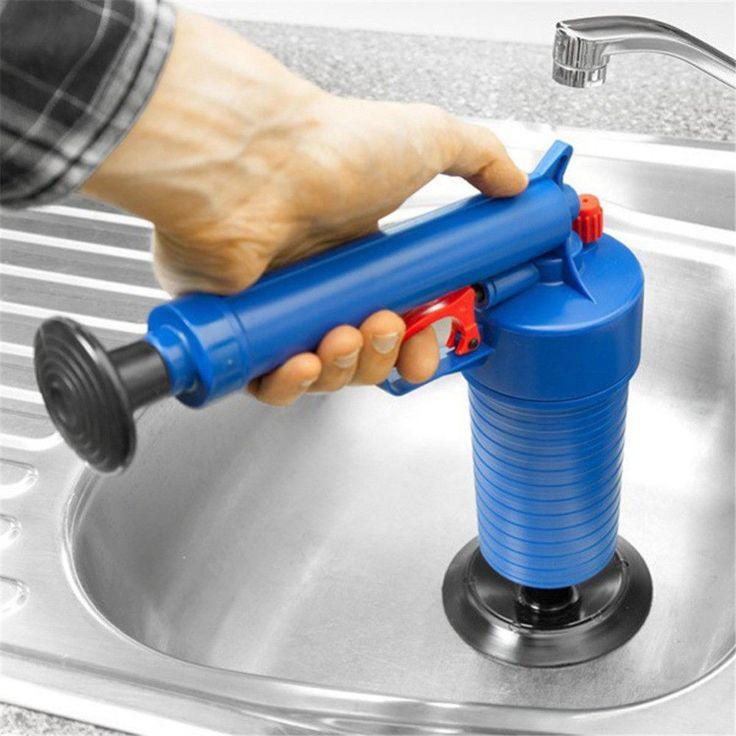 Air Power Drain Blaster High Pressure Drain Opener Clogged Bathtub Toilet Pipe. #OUSSIRRO