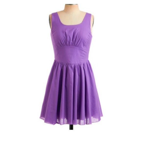 "Super sweet lavender dress Great for spring lavender dress, 24"" from armpit to hem ModCloth Dresses"
