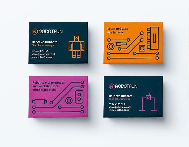 Robotfun Business Card Business Card Design Inspiration Business Card Design Inspiration Unique Business Cards Design Business Card Inspiration
