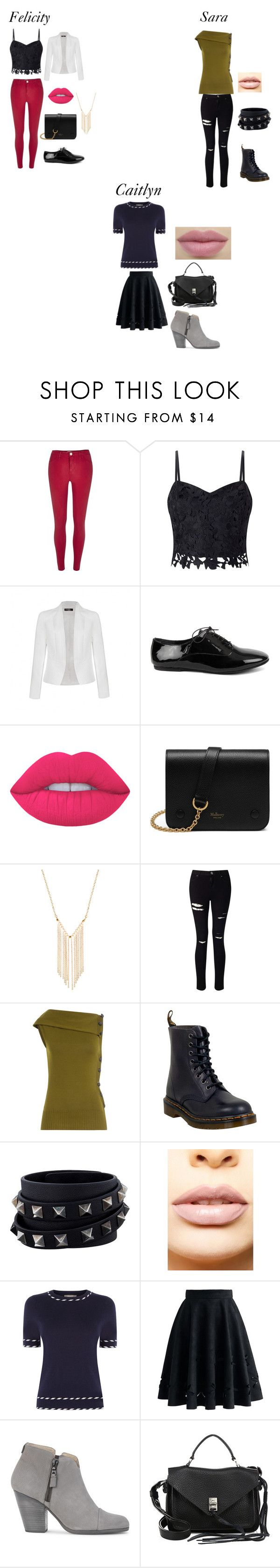 """""""Chapter 9 Truth Bombs"""" by sara-scott-i on Polyvore featuring River Island, Lipsy, Ally Fashion, Lime Crime, Mulberry, Gemelli, Miss Selfridge, Thierry Mugler, Dr. Martens and Valentino"""