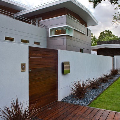 Fences and walls design ideas pictures remodel and for Exterior wall design ideas