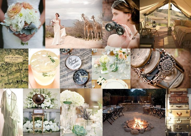Vintage safari wedding (Out of Africa inspired). I LOVE this idea!