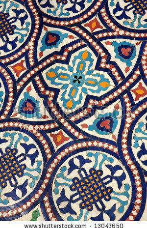 Moroccan mosaic tilework detail - this would be a beautiful quilting or needlework pattern.