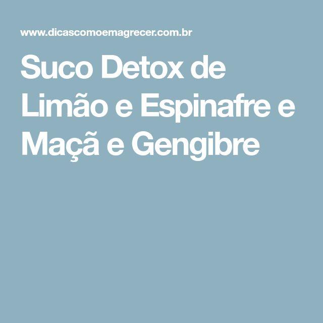 Suco Detox de Limão e Espinafre e Maçã e Gengibre