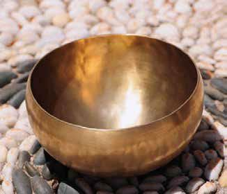 Enjoy the beauty of a singing bowl.