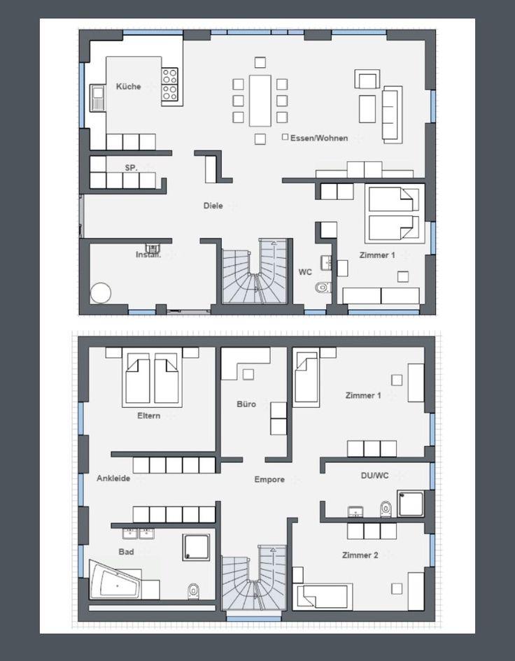Stadtvilla modern grundriss  447 besten Grundriss Bilder auf Pinterest | Grundrisse ...