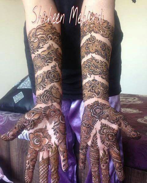 I love these clear skin mehndi designs