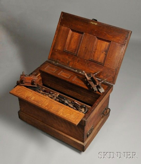 Birch and Oak Joiner's Tool Chest | Sale Number 2623M, Lot Number 246 | Skinner Auctioneers