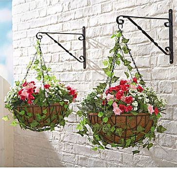 artificial ready made hanging baskets from House of Bath