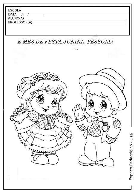 ESPAÇO PEDAGÓGICO: Atividades com desenhos de Festas Juninas para colorir, pintar, imprimir!