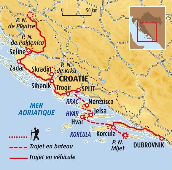 Randonnée en Croatie : partez 14 jours avec Terres d'Aventure ! Vous apprécierez : La diversité des paysages - Les randonnées au cœur des parcs nationaux - La découverte des plus jolies villes croates - Les plus belles îles de Croatie