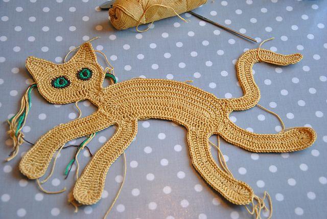 Bildresultat för virka platt katt